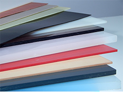 assorted plastic sheets of varying thicknesses and colors