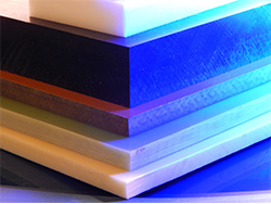 assortment of plastic sheets by thickness